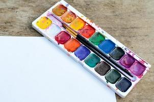 Used watercolor paintbox