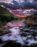 Swiftcurrent Creek at Dawn