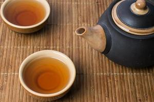 Traditional chinese tea serving set up photo