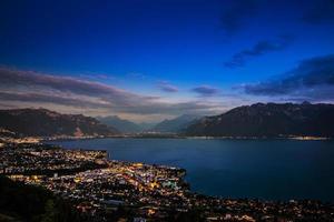Geneva Lake at night photo