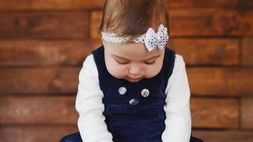 retrato, de, adorable, niña video