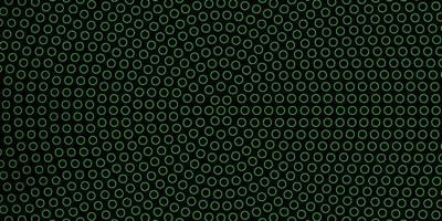 Dark Green background with circles.