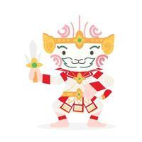 Cartoon Hanuman Thai Character vector