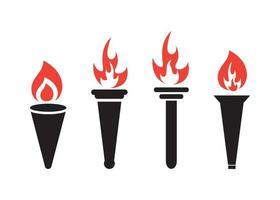 Torch icon design template vector