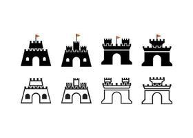 plantilla de diseño de icono de castillo