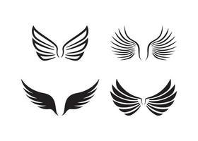 plantilla de diseño de icono de ala vector