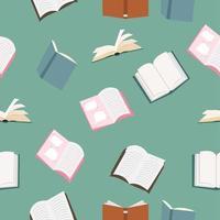 patrón sin costuras de libros abiertos vector
