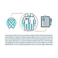 plantilla lineal de concepto de servicios de sida vector