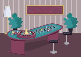 Roulette table design vector