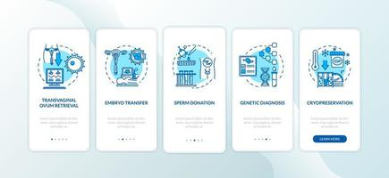Reproduction onboarding mobile app page screen vector
