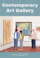 plantilla de cartel de galería de arte contemporáneo vector