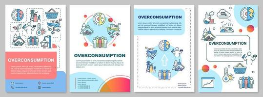 Plantilla de folleto de consumo excesivo. vector
