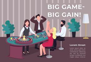 cartel de gran ganancia de gran juego vector