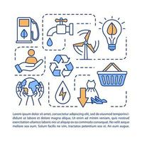 Responsible consumption concept icon with text. vector