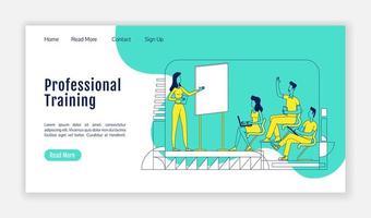 página de inicio de formación profesional vector