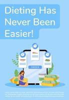 Diet food online ordering poster vector