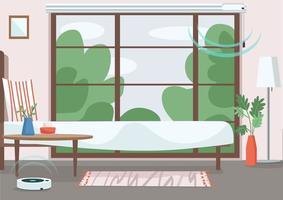 apartamento moderno con tecnología inteligente vector