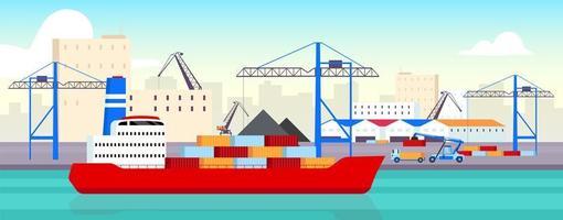 rampa para barcos del puerto marítimo vector