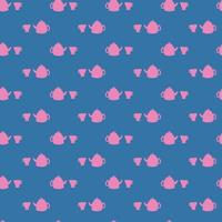 Abstract pattern with cups. vector