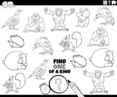 One of a kind task with wild animals vector