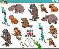 único en su clase con animales de dibujos animados