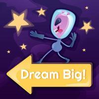 Dream big social media post vector