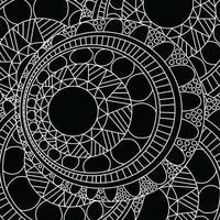 patrón de mandala zentangle vector
