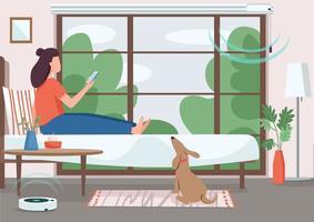 control inteligente del hogar vector