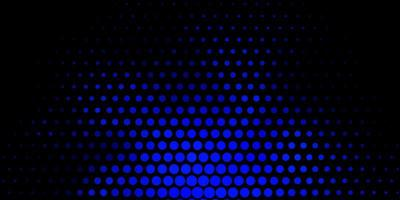 Blue background with spots.