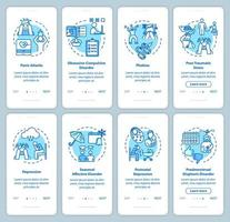 Mental disorders onboarding mobile app page screen vector