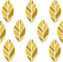 Seamless pattern of gold nature leaves vector
