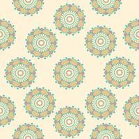 Seamless pattern of abstract green mandalas vector