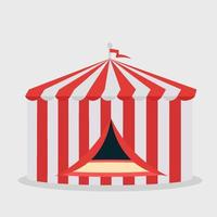 Red and white circus tent vector