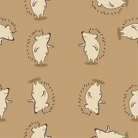 Seamless pattern of cute porcupines vector
