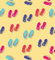 Seamless pattern of colorful flip flops