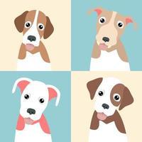 colección de lindos cachorros divertidos vector