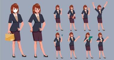 Collection of businesswomen