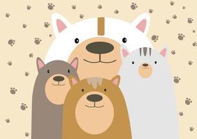 familia feliz de osos vector