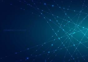 Abstract blue laser line with sparkle lighting vector