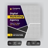 Promotional web banner for social media vector