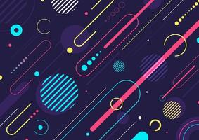 diseño de patrón de elementos geométricos dinámicos abstractos creativos vector