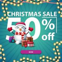 Christmas discount banner with large numbers
