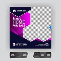Social Media post real estate design vector