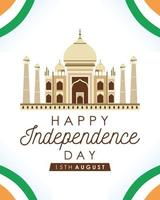 Happy India Independence Day celebration poster vector