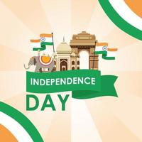 Happy India Independence Day celebration banner vector