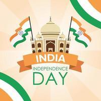 feliz día de la independencia de india celebración banner