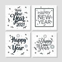 Happy New Year, 2021 celebration card set