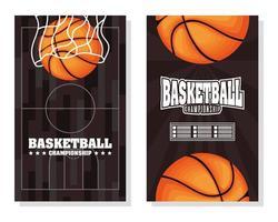 cartel del campeonato de baloncesto y deportes