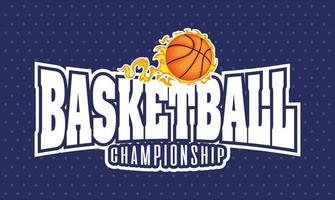 Basketball and sports championship lettering