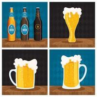 Beer Day celebration composition set vector